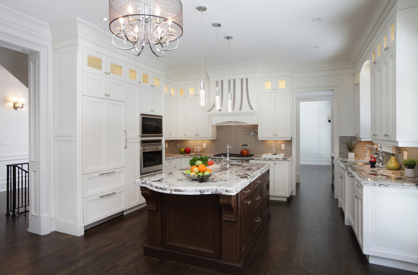 dark wood floors in kitchen. Modern White Kitchens With Dark Wood Floors 35 Striking  Pictures