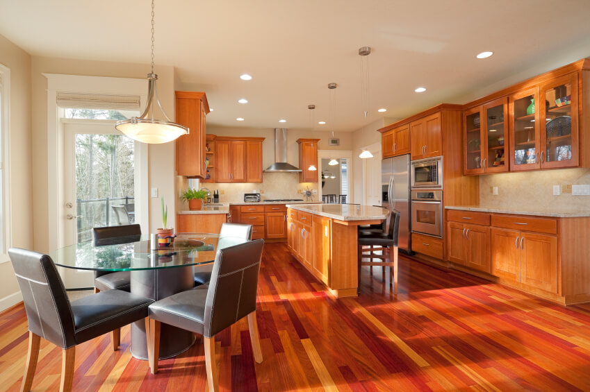 The Cheery Bright Wood Floor Adds Loads Of Color And Interest To This Lovely But