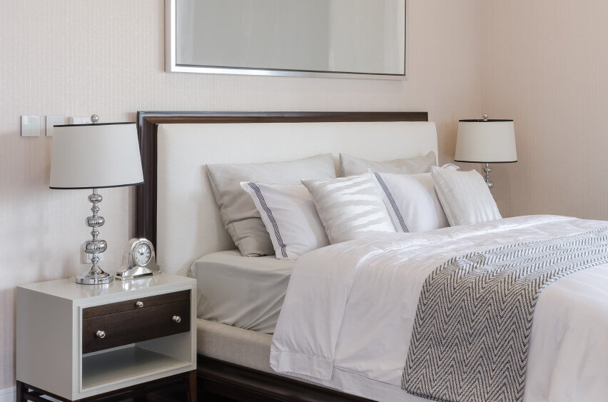 This Soft Room Is Crisp And Classic Neutral Grays And Beige Hues Offer A Restful