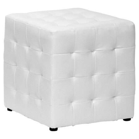 25 white leather ottomans square rectangle. Black Bedroom Furniture Sets. Home Design Ideas