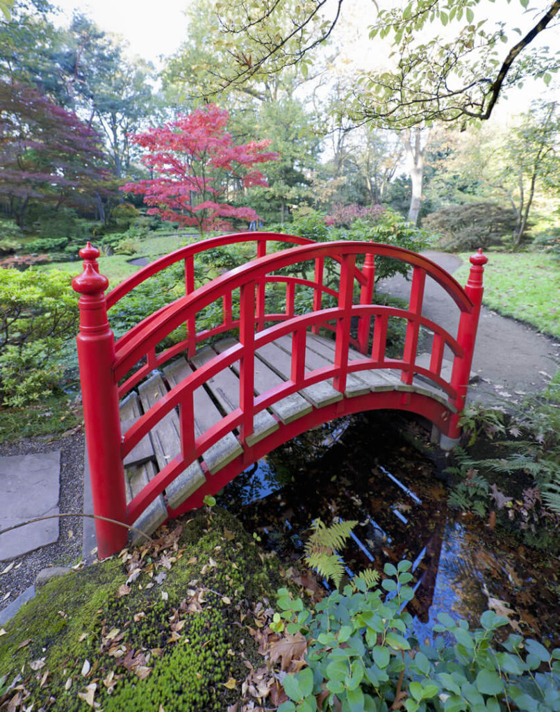 Although Chinese red bridges are, as the name implies, Chinese in origin, they have become a popular part of Japanese zen gardens.