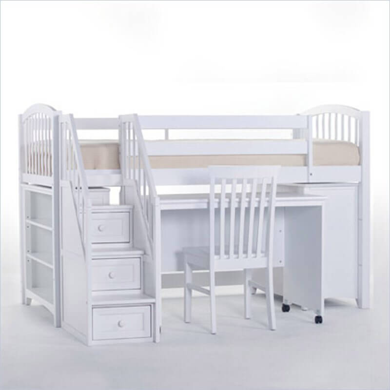 25 awesome bunk beds with desks perfect for kids rh homestratosphere com bunk beds with desk and stairs cheap loft beds with desk and stairs