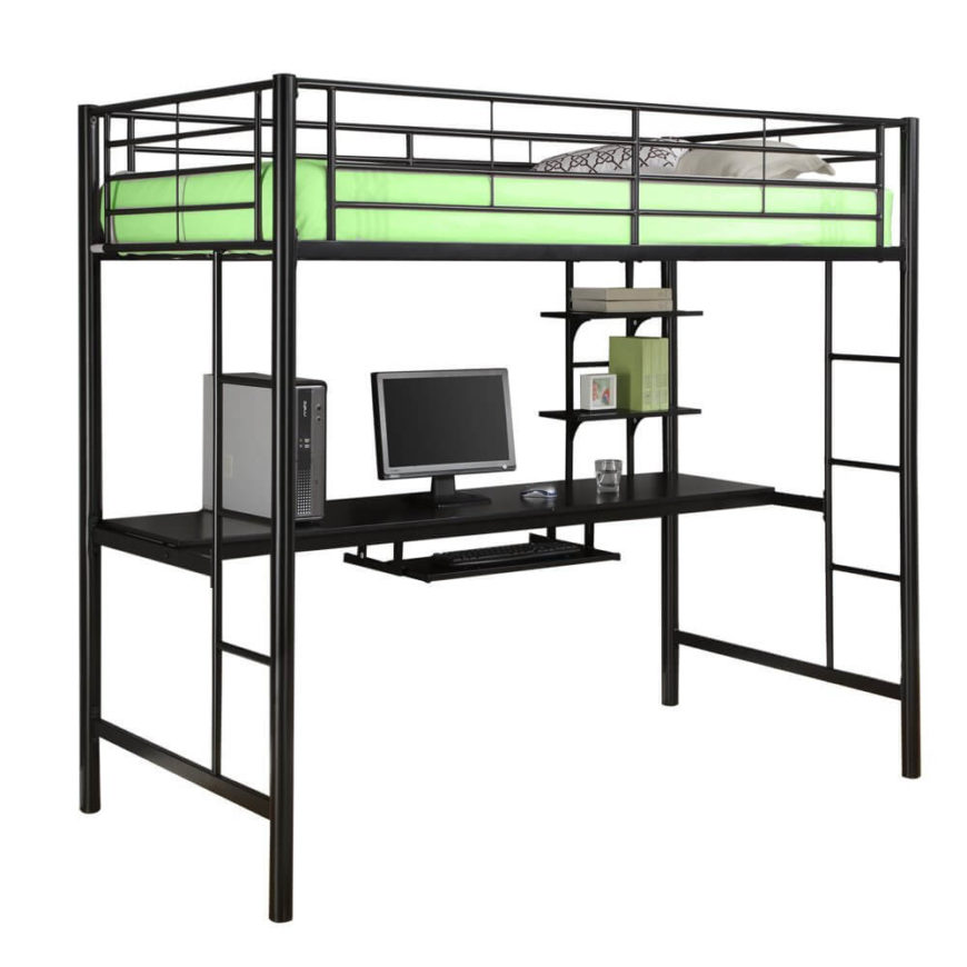 25 awesome bunk beds with desks perfect for kids Full size loft beds with desk