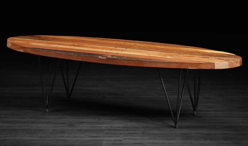 The Mixture Of Rich Natural Wood And Thin Black Metal Makes For A Bracing  Combination. This Coffee Table ...