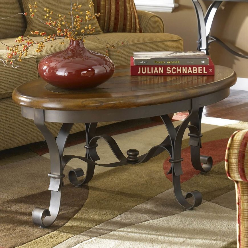 Oval Wood And Metal Coffee Table: 20 Top Wooden Oval Coffee Tables