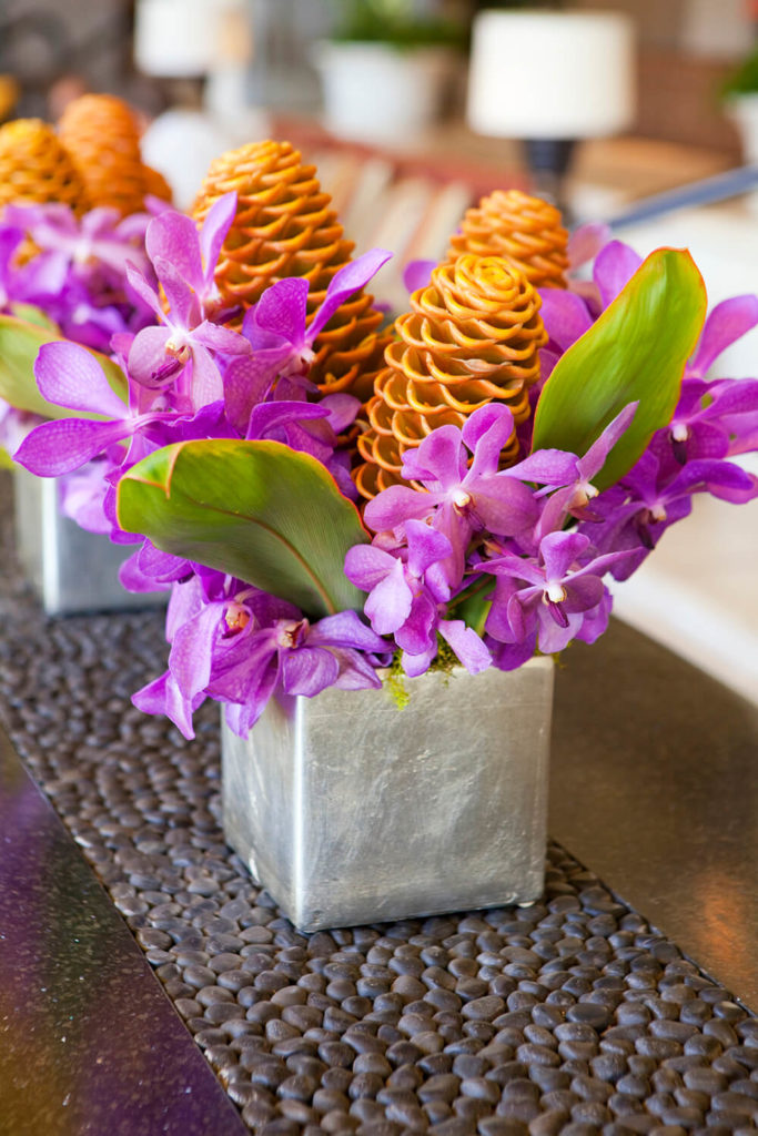 A Simple Vase Painted In Metallic Silver Is The Perfect Contrast To The  Beautiful Vivid Purple
