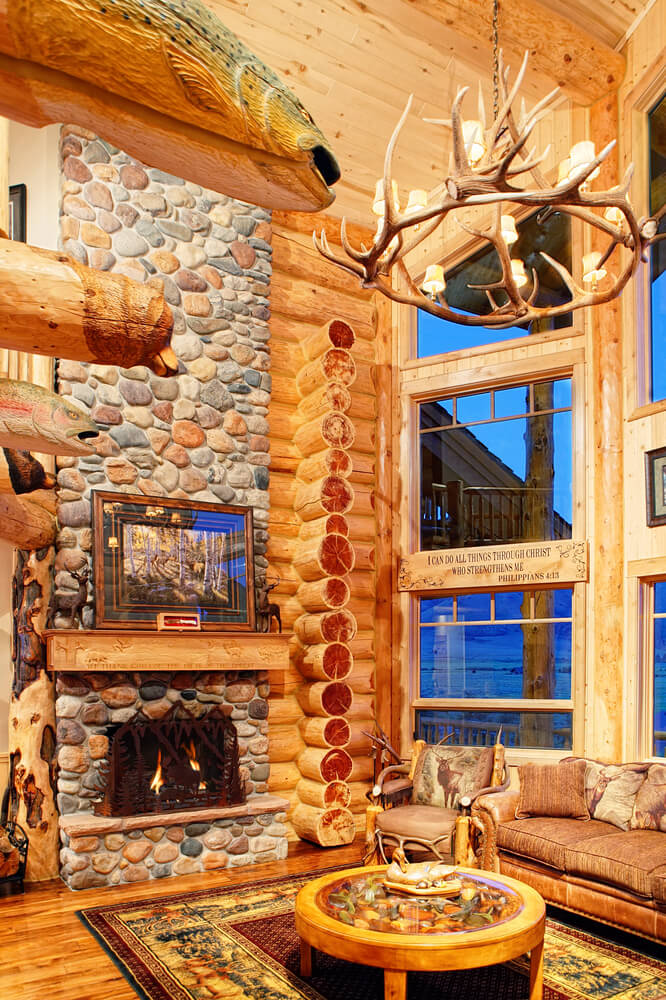 25 incredible stone fireplace ideas for Log cabin design software