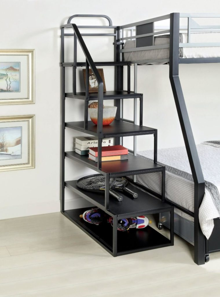24 designs of bunk beds with steps kids love these. Black Bedroom Furniture Sets. Home Design Ideas
