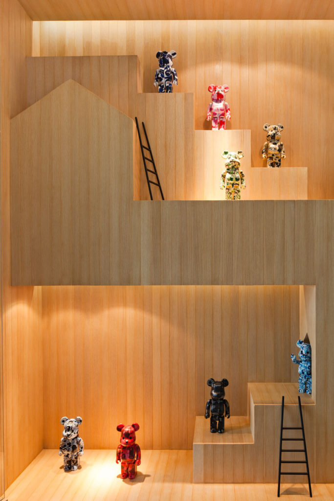 A close view reveals the intricate work that's gone into the display, using the same type of wood as the home itself, equipped withsmall ladders, echoing the life size models seen throughout.