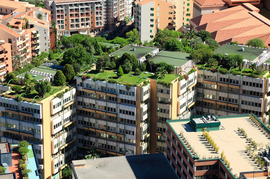 This Modern Apartment Complex Features An Intricate Interconnected Array Of Green Roofs With Lawns