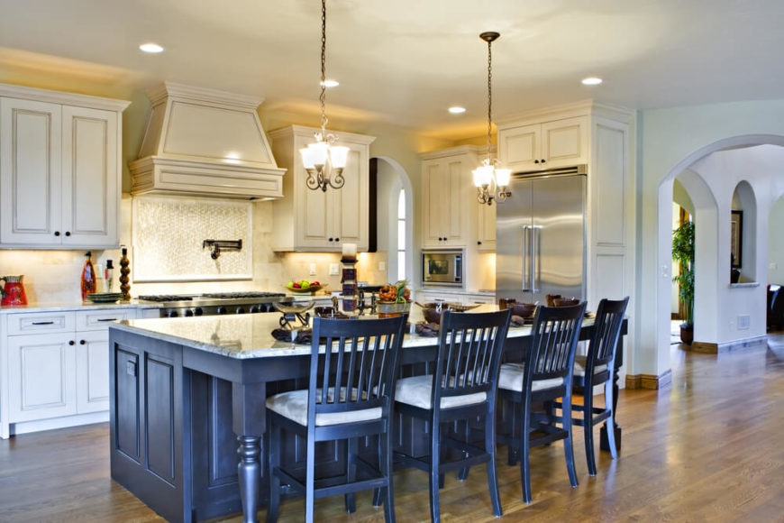 This Extraordinary Kitchen Island Grants A Burst Of Contrast To Its  Respective Room, With A