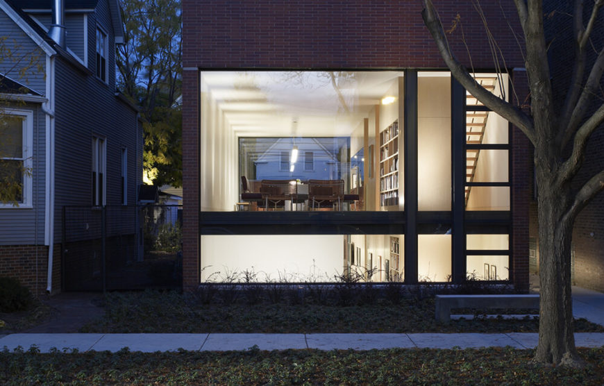 Massive windows truly open up this modern home to the outdoors.