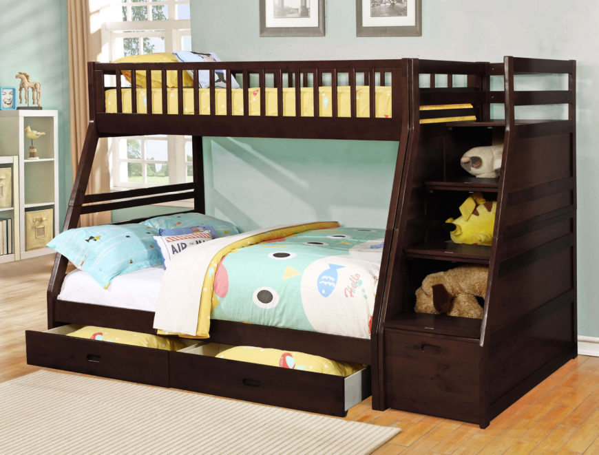 Superb Bunk Bed With Owl Comforter.