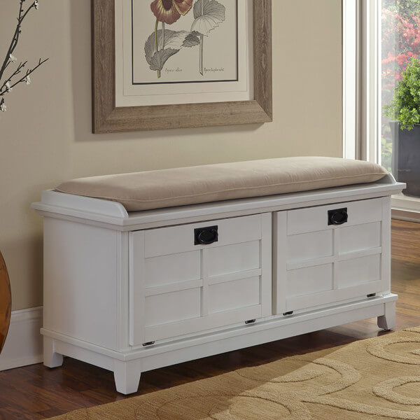 Exceptional Front Hall Storage Bench With Cushioned Top. Storage Is Made Easy With  Pull Out