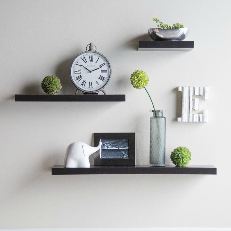 The Above Floating Shelves Are Minimalist Yet Offer Storage Options As Well  As A Decorative Function