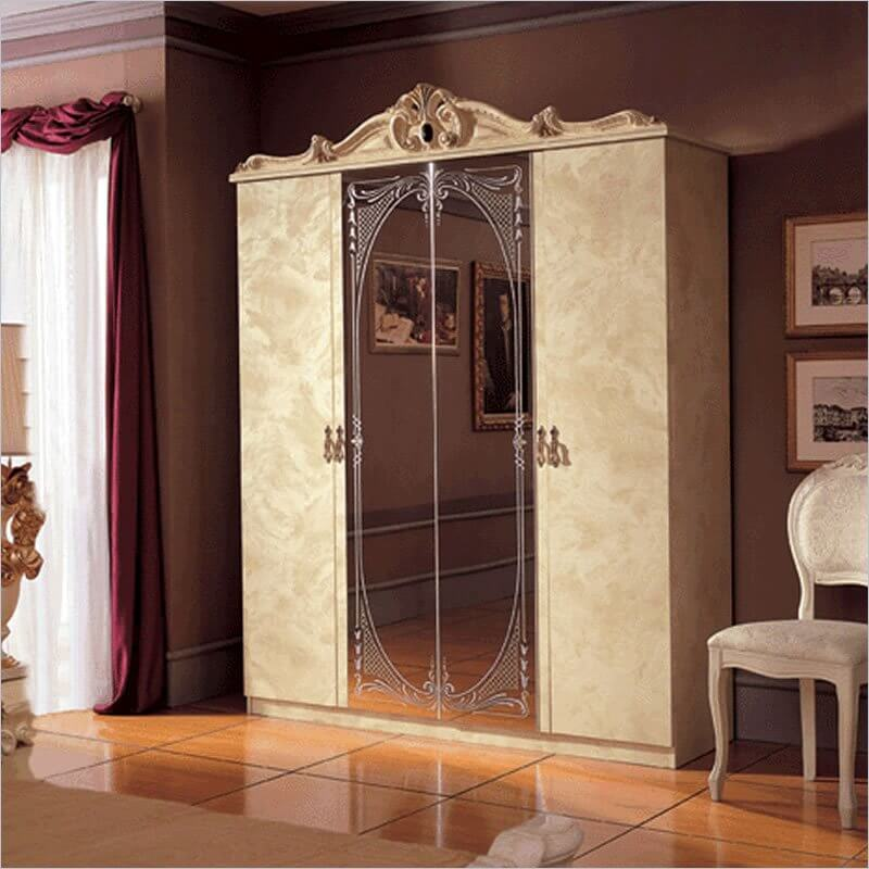 The full-length mirror on this armoire allows you to give yourself a good once-over before heading out for the evening.