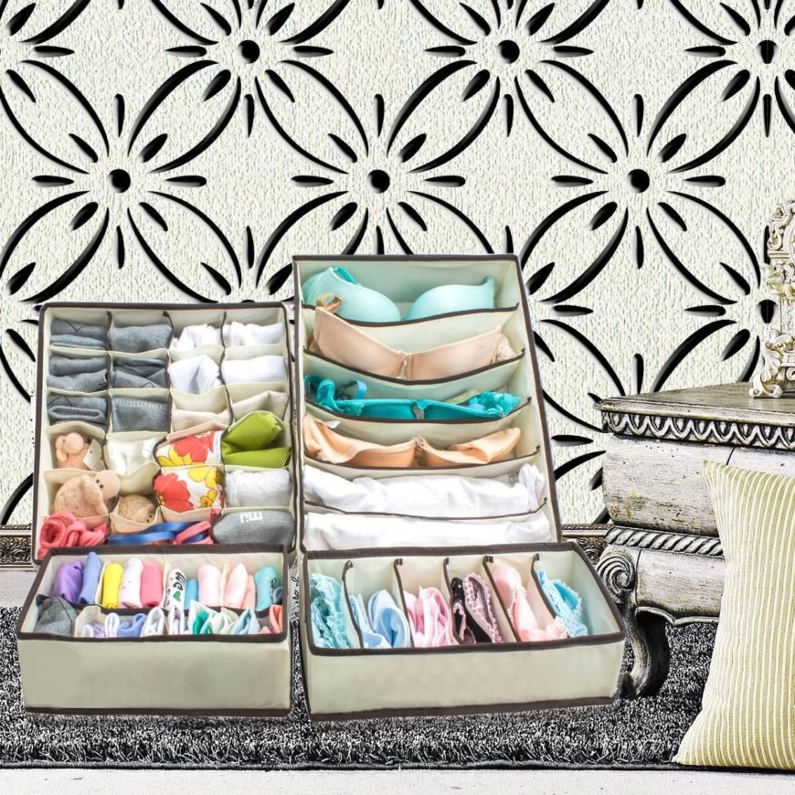 This set of under-the-bed clothing organizers allow you to hide seasonal clothing and keep your closet uncluttered.