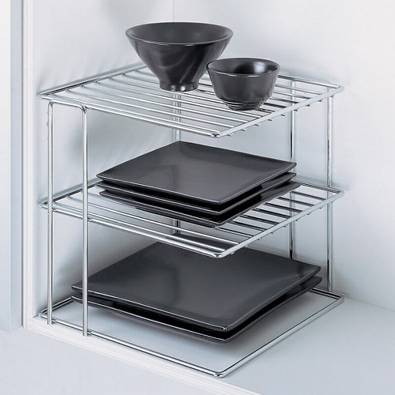 These Adjustable Stainless Steel Racks Will Allow You To Stack All Of Your  Dishes In