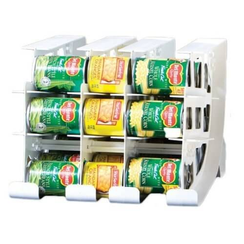 This can holder stacks and displays your cans, so you can see at a glance what you have and what you don't have.