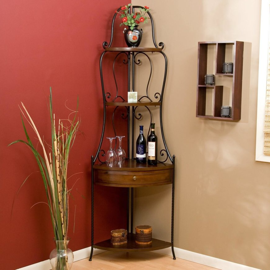 The Rich Polished Wood And Wrought Iron Skeleton Are Perfect For A Space Between