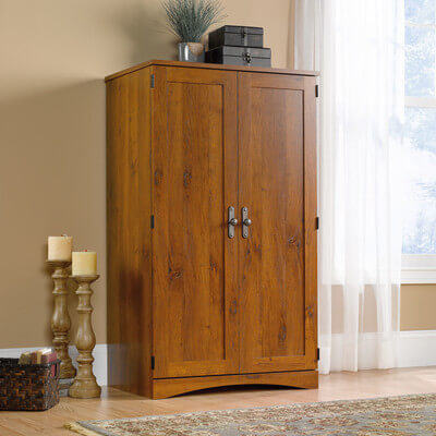 A traditional wardrobe has plenty of space inside, although it has fewer customization options than a closet system.