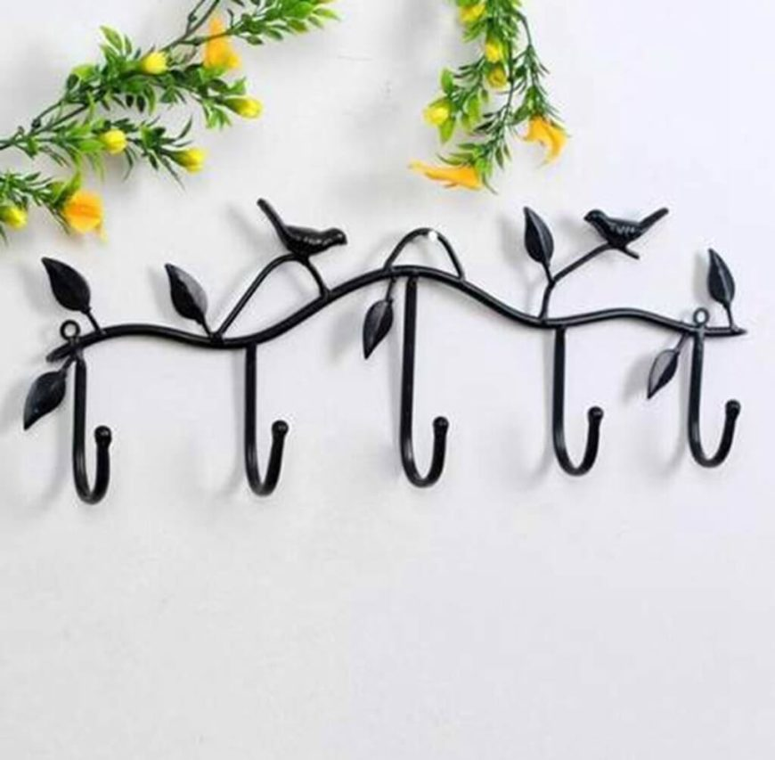 Whether you go simple or decorative, hooks are a great way to take advantage of wall space.
