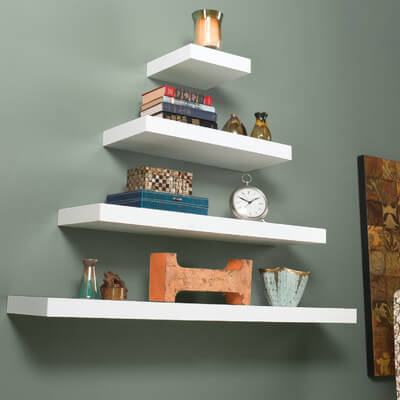 Whether for decorative purposes or to store books, shelves are one of the most versatile types of storage.