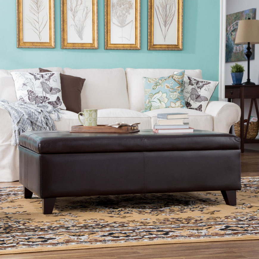 Ottoman In Living Room: 143 Home Storage And Organization Ideas (Room-by-Room