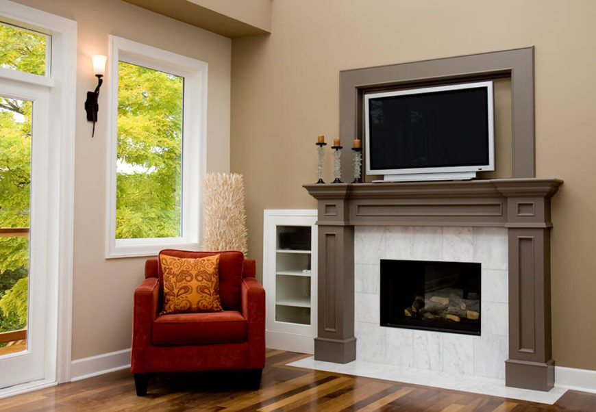 49 Exuberant Pictures Of Tv'S Mounted Above Gorgeous Fireplaces