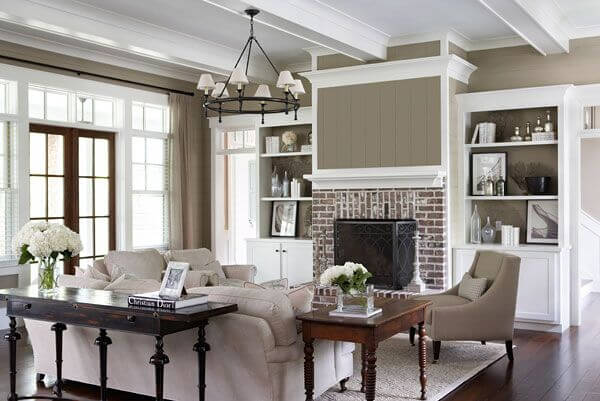 Cozy Living Room With Fireplace Taihan