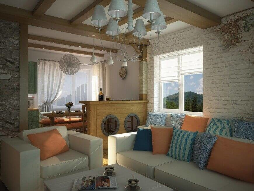 This Smaller Living Room Seems A Little Small And The Bright Pillows Layered On