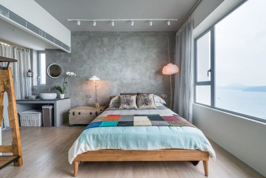 11 - bedroom with accent wall - PplusP, Cape Mansions