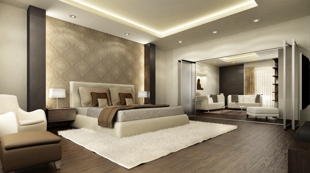24 comfortable bedrooms with an engaging accent wall - Brown Bedroom 2015