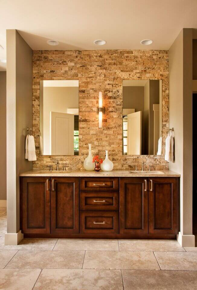 28 Gorgeous Bathrooms with Dark Cabinets (LOTS OF VARIETY) on white bathroom countertop ideas, cheap bathroom countertop ideas, small bathroom countertop ideas, wooden bathroom countertop ideas,