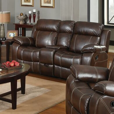 This gorgeous recliner features bright stitching across a deep chocolate leather body for a high contrast, detailed appearance. It completes any man cave in need of some serious dedicated comfort, with the added help of some built-in storage.