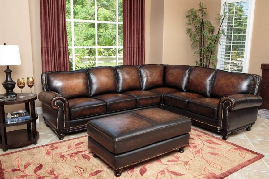 Hereu0027s An Immaculately Elegant Dark Leather Sectional That Will Raise The  Luxury Quotient Of Any Man