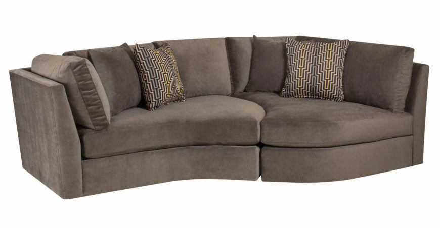 While this sofa may be a sectional, it doesn't look like the traditional examples you're likely to see. The broad, curved base makes room for abundant comfort space and boasts a chaise that faces into the rest of the sofa.