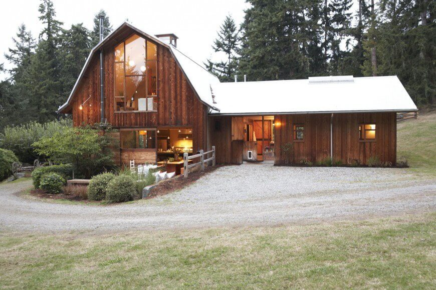 17 different types of house siding with photo examples for Cheap barn style homes
