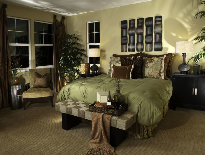 Lush Fabrics And Rich Textures Make For This Extravagant Room. With Plush  Velvet Pillows Taking