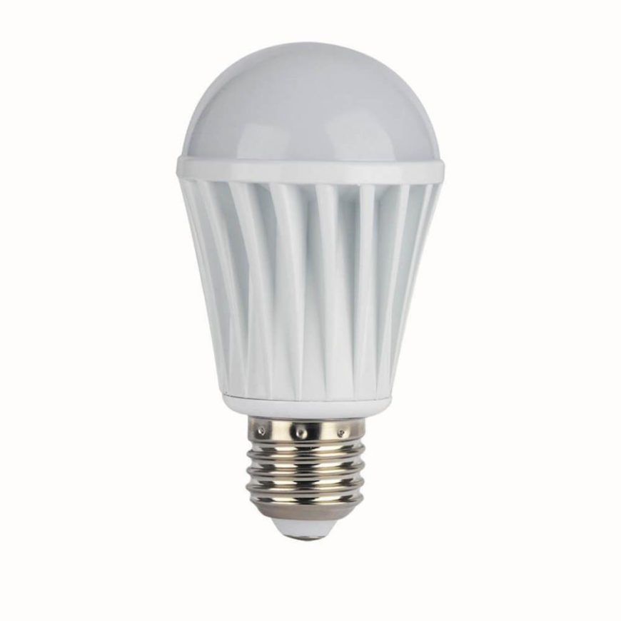 This is the WiFi connected bulb, Its design is a little different, but in a beneficial way. With this bulb, there is less of a glass surface, making the bulb itself a little more structurally sound. The traditional base allows you to use the bulb in any traditional socket, anywhere in your home or office.