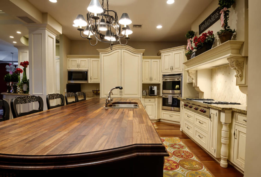 Hereu0027s Another Kitchen Featuring A Natural Wood Countertop, This Time  Centered On A Vast Island Part 96