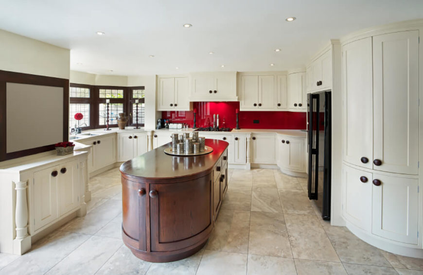 traditional kitchen designs. Sensuous curves are the most striking facet of this massive open plan kitchen  design 25 Our Very Best Traditional Kitchen Designs FANTASTIC PICTURES
