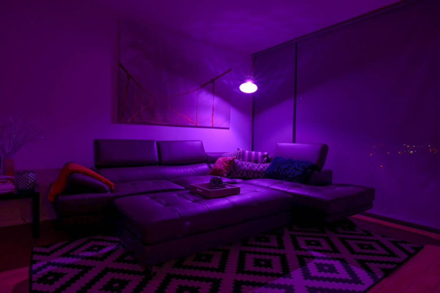 Imagine creating art in a space like this! You could be using a whole pallet of colors to create a painting, change the color of your SmartFx bulb, and see something completely new!