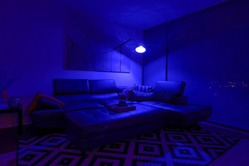 Feeling blue? We all do sometimes. You can really embrace your emotions and confront issues when you have a whole room saturated with color. Like we said before, lighting is a big part of feeling comfortable, even when things aren't going your way.