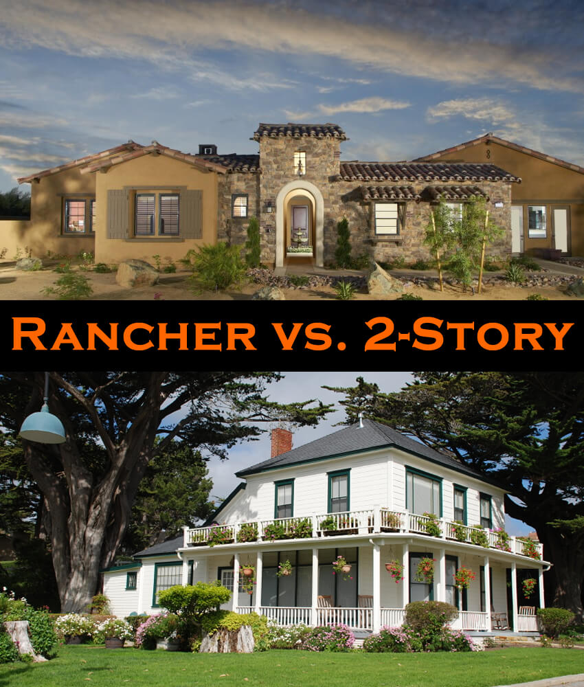 Rancher vs 2 story house pros and cons plus take our poll for 2 story ranch style home