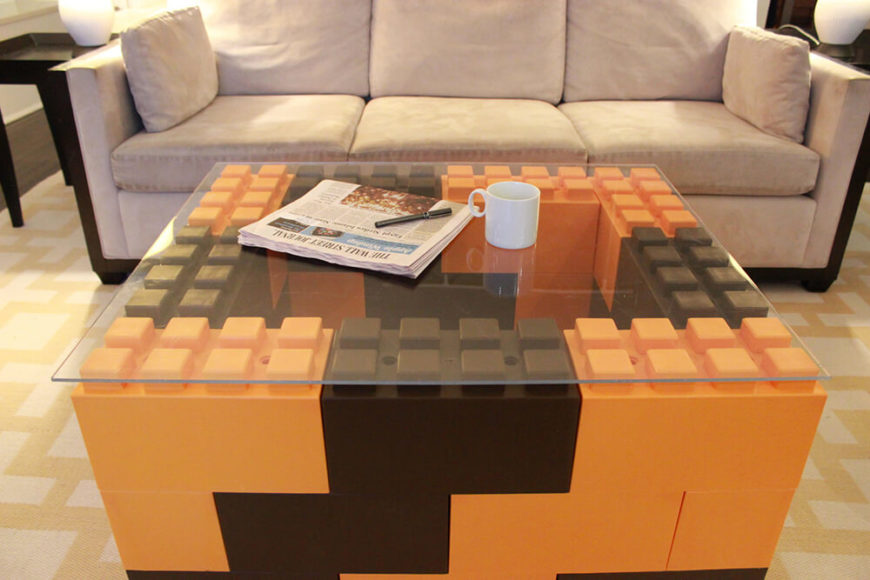 EverBlock can be very easily used to craft visually appealing, conversation-starting coffee tables. Adding a simple glass panel as a surface results in a uniquely useful table.