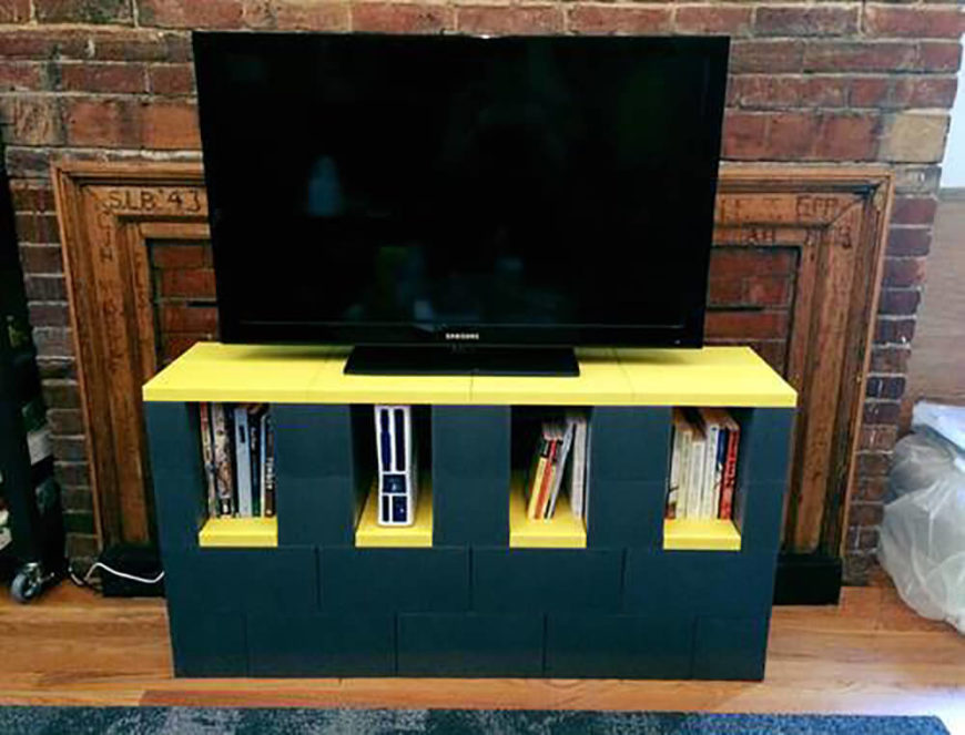 One of the best and easiest projects you can build is a simple entertainment center, with cubbies to hold media and a nice flat surface to plant your television.