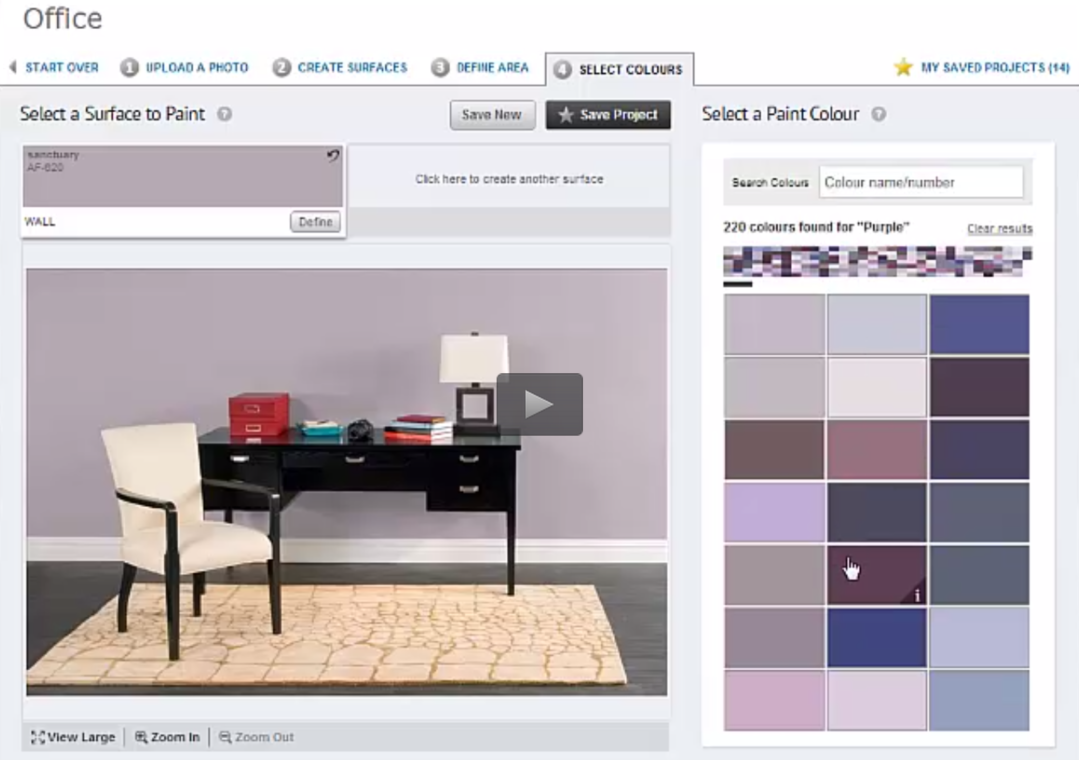color options with benjamin moores paint color software - Paint Color Options