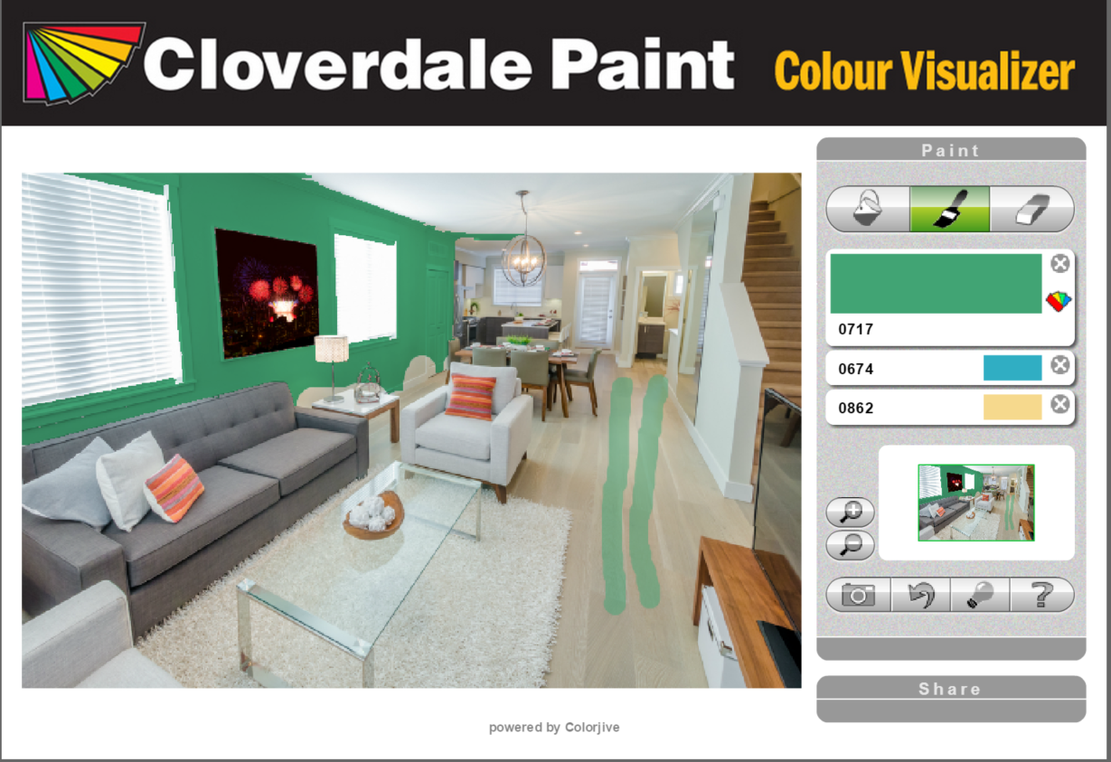 Room paint simulator home design Online visualizer