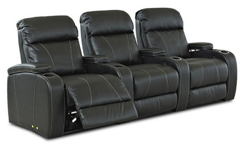 We love the light contrast that the stitching brings to this plus black leather recliner set  sc 1 st  Home Stratosphere & Top 21 Types of Home Theater Recliners and Chairs islam-shia.org